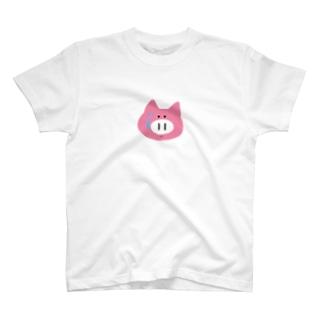 録画をミスって焦る豚ちゃん T-shirts