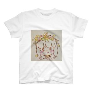 お花の女の子 T-shirts