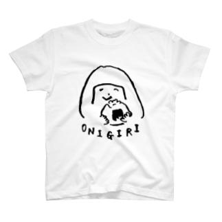 陽気なおにぎりガール T-shirts