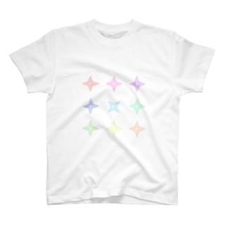 パステル手裏剣 T-shirts