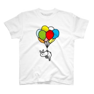 風船うさぎ Tシャツ