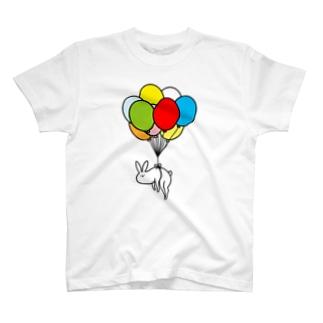 風船うさぎ T-shirts