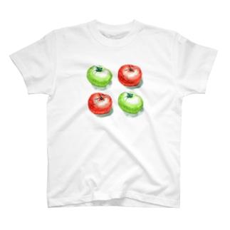 トマト 水彩 T-shirts