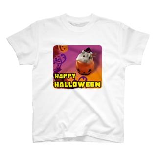 HAPPY HALLOWEEN はむた T-shirts