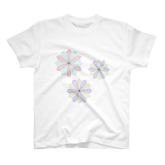 RAKUGAKI(Flowers) T-shirts