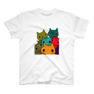 POPねこ集合 T-shirts