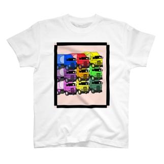 トラックガサネ T-shirts