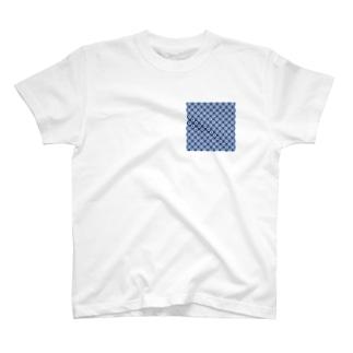 鹿の子(青×水) T-shirts