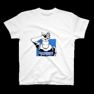 Wave180の顔を隠す犬(カラー&シャドウ) T-shirts