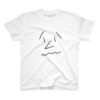 気まずい顔くん T-shirts