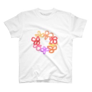 お花のわっか T-shirts