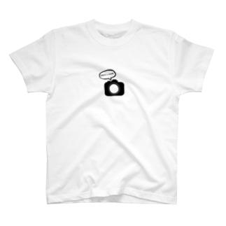 カメラの気持ち 「単焦点レンズは神」 T-shirts