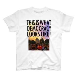 白生地用 WHAT'S DEMOCRACY? カラー T-shirts