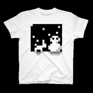 EDODESUのゆきだるまとうさぎ Tシャツ
