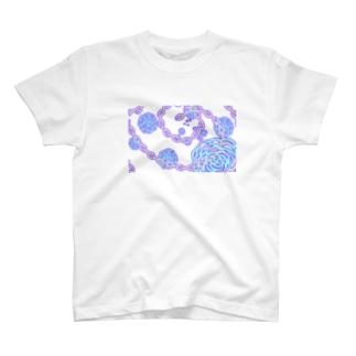 鎖に包まれた薔薇 T-shirts