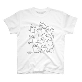 くろねこレグのTシャツ T-shirts