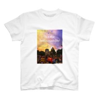 文字白 WHAT'S DEMOCRACY? カラー II T-shirts