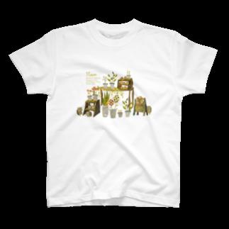 SORAHANAのFlower T-shirts