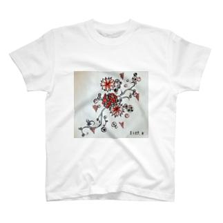 赤と黒の世界 T-shirts