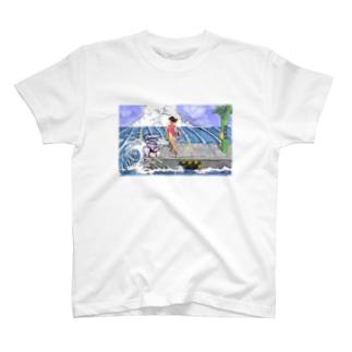 海の駅ぼかし入り T-shirts