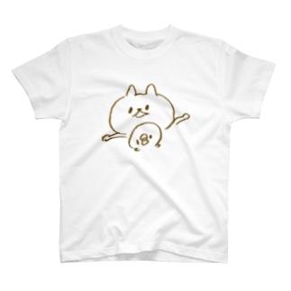 ねことひよこの必死のセーフアピール T-shirts