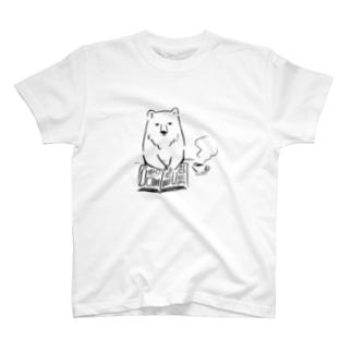 くまと朝刊 T-shirts