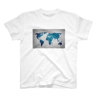 氷と水の世界地図 T-shirts