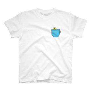 ポケットからひよこ T-shirts
