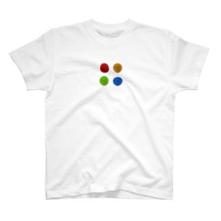 カラー影絵犬 T-shirts