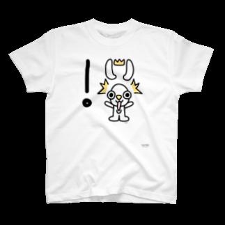 ジージョのデカ文字わんこ「!」 T-shirts