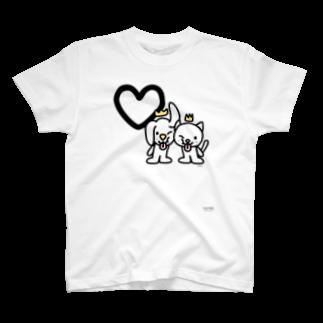 ジージョのデカ文字わんこ「♡」 T-shirts