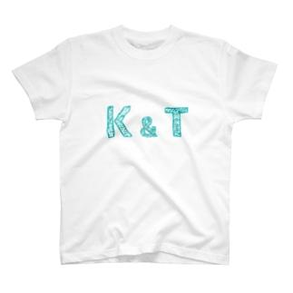 イニシャル Tシャツ K&T ペア T-Shirt