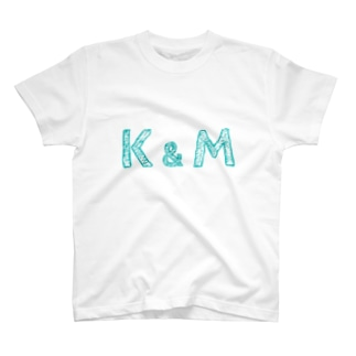 tsunokaのイニシャル Tシャツ K&M ペア T-Shirt
