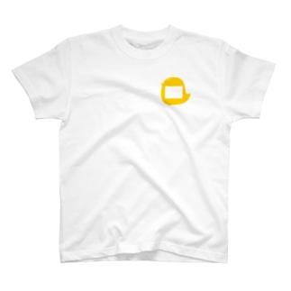 幼稚園児風のヒヨコさんの名札 T-shirts
