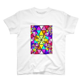 みにゃ次郎のステンドグラス T-shirts