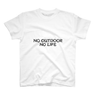 NO OUTDOOR, NO LIFE T-shirts