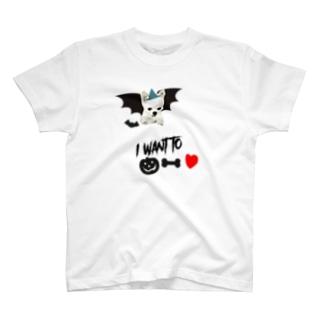 ハロウィン🎃チワワのプリンくん T-shirts