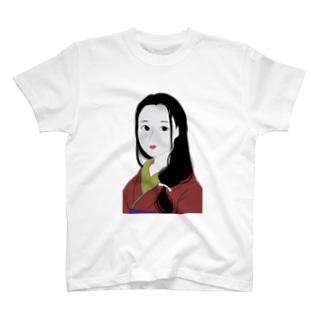美人画風Tシャツ T-shirts