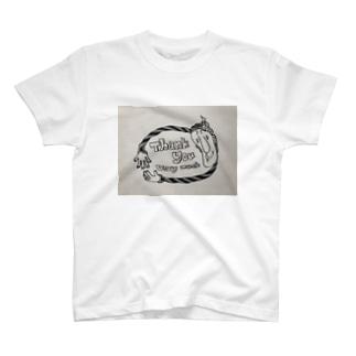 ありがとうの気持ちhiromidesign T-shirts