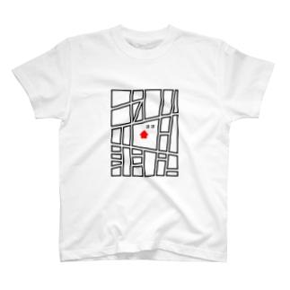 学校に提出するときの地図 T-shirts