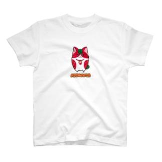[フルーツ猫シリーズ]いちご猫のフラガリア・背景なしver. T-shirts