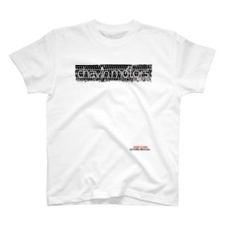 チャビンモータース タイヤ痕ロゴT T-shirts