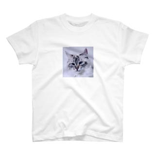 ぬーん猫どアップ T-shirts