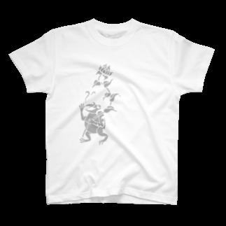 ツバメ堂のカエルのおっさん Tシャツ