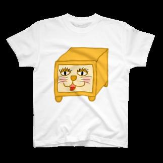 HANAGE WORKSのネコパン T-shirts