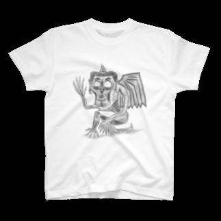 HANAGE WORKSのタケノコガーゴイル T-shirts