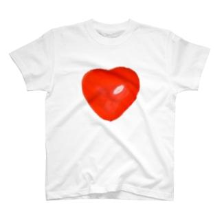 Loveー 赤 T-shirts