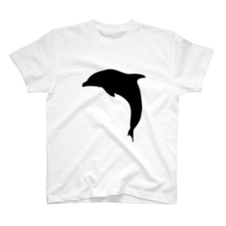 イルカのシュルエットー黒 T-shirts