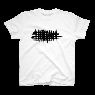 Rei Japanese Calligraphy Designのブラッシュラインシリーズ1 T-shirts