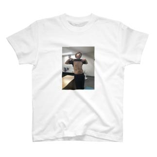 バキバキの腹筋。 T-shirts